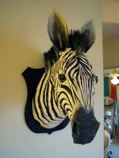 Cardboard and Broom Zebra