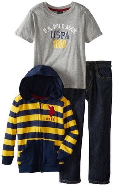U.S. Polo Assn. Boys 2-7 Striped Hoodie T-Shirt and Five Pocket Jean, Gold, 2T U.S. Polo Assn. http://www.amazon.com/dp/B00DHALK68/ref=cm_sw_r_pi_dp_wtvWtb0BAAGWA50M