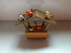 German Wooden Musical Box Singing Bird House by PutFamilyFirst, $30.00