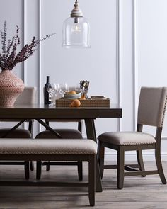 A versatile bench can be styled throughout your home, as additional seating at the dining table or an entryway, or even to finish off the foot of the bed.