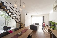 スタイリッシュでカッコイイ個性のあるお家 Living Room, House Design, Room, House, Interior, Home, Modern, House Interior, Stairs