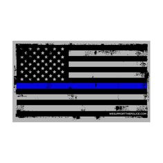 "Thin Blue Line Flag Decal Reflective – 100% of the proceeds from the sale of this decal directly benefit this year's ""Shop With A Cop"", sponsored by Kenosha Police Department. Support the good, but less fortunate kids, and your LEO's at the same time."