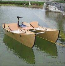English - Faltkatt - Der zusammenlegbare Katamaran für Ihr Autodach! Canoe Boat, Canoe And Kayak, Pontoon Boat, Canoe Plans, Sailboat Plans, Small Fishing Boats, Small Boats, Duck Boat Blind, Diy Boat