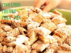Cinnamon Churro Chex Mix - Yes Please!  These would be good with pretzels and pecans stirred in.
