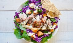 This salad is serisouly so good! We named it the Epic Merrymaker Salad because there's much extra good stuff. Chicken, sweet potato,…