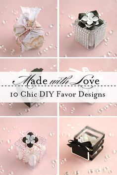 Learn to make each of these bespoke favor boxes (and more!) in our newest handmade wedding tutorial! {#DIY, handmade, favor, favour, unique favors, unique wedding, DIY wedding}