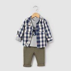 Conjunto camisa, camisola e calças de fato de treino, 1 mês-3 anos R mini