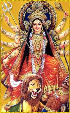 Navratri Puja will help you overcome all your negativities. Flourish with wealth on this Navratri by offering Homam to Lakshmi, Saraswathi & Durga. Durga Puja, Mother Kali, Divine Mother, Navratri Puja, Maa Durga Image, Navratri Images, Durga Images, Lakshmi Images, Shiva Art