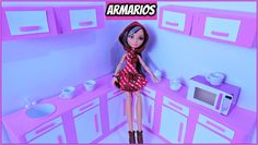 como fazer  ARMÁRIOS  de COZINHA para Bonecas,Barbie, Ever after high,mo...