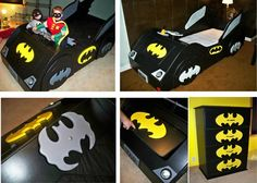 batman bedroom furniture - Would totally do this for our son, although I'm sure my husband would love it more. Lol.
