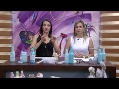 Garrafa de vidro com decoração Shabby Chic PT1 Camila Claro de Carvalho Mulher com 07 10 2015 - YouTube