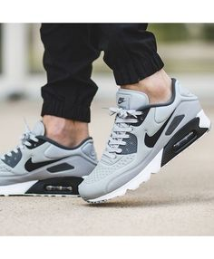 the best attitude 2444e 3ff8f Nike Air Max 90 Ultra SE Wolf Grey Black Mens Grey Shoes, Grey Sneakers,