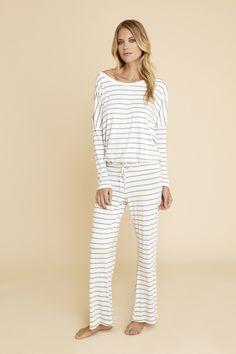 Lounge Stripes Slouchy Tee - What's new! #eberjey #loungewear #sleepwear
