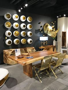 Phillips Collection​ always does a fantastic job with their showrooms and in displaying my wall art I designed. These photos are from the recent Las Vegas Market. The Broken Eggs in Gold, Wall Feathers in Gold, I-Beams, and Broken Eggs in Silver. Thanks to Phillips Collection for the photos! #InteriorDesign #PhillipsCollection #WallArt #BrokenEggs #Feathers #IBeams #ProductDesign #Interior #Product #Design #Designer #Decorator #DannInc #DannFann