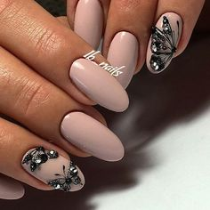 Butterfly nail art designs are loved by women because of its cute, colorful, beautiful patterns and symbolic significance, or simply because the design of butterfly nails has produced attractive effects on nails. Spring Nails, Summer Nails, Cute Nails, My Nails, Graduation Nails, Butterfly Nail Art, Nailed It, Nails Polish, Pretty Nail Art