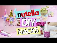 DIY Einhorn Stiftehalter aus leeren Nutella Gläsern selber machen