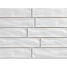 Santa Monica White 4x12 Subway Tile In 2019 Ceramic