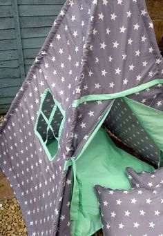 Star Teepee by LillianaDesignsUK on Etsy Scatter Cushions, Floor Cushions, Fabric Envelope, Pastel Mint, Wet Weather, Health And Safety, Cushion Covers, Bespoke, Stars