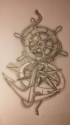 Legendary Paintings for Any Marine Compass Anchor Tattoos - . - Legendary paintings for any marine compass anchor tattoos – … - Marine Tattoos, Navy Tattoos, Sailor Tattoos, Navy Anchor Tattoos, Anchor Compass Tattoo, Nautical Tattoos, Tattoo Sketches, Tattoo Drawings, Body Art Tattoos