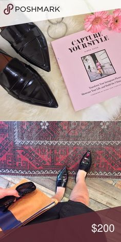 Celine pointy loafers Purchased from another posher. Size 37, fits true to size. Spazzalao leather. Came with no shoe box or shoe bag. Shows some signs of wear to the bottom sole from previous owner. My feet are a bit too wide for this style. Very chic! Celine Shoes Flats & Loafers