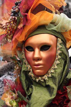 Venice Carnival:  autumn leaves