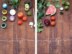 Beautiful! A recipe calendar.