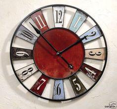 Horloge bois massif naturel my style pinterest for Horloge zodio