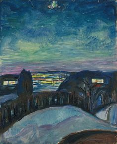 Starry Night 1922–24 / Oil on canvas / 80 x 65 cm Munch Museum