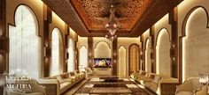 Islamic and modern Arabic majlis | ALGEDRA Interior Design Consultancy
