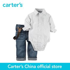 http://babyclothes.fashiongarments.biz/  Carter's 2 pcs baby children kids Bodysuit & Jean Set 127G187, sold by Carter's China official store, http://babyclothes.fashiongarments.biz/products/carters-2-pcs-baby-children-kids-bodysuit-jean-set-127g187-sold-by-carters-china-official-store/, ,   Product details  Complete with classic denim and a plaid poplin bodysuit, he's ready for holiday celebrations in this easy outfit set.    2-piece set__Printed sleeves__Pocket detail__Button-front…