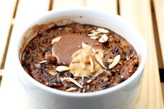 Chocolate Hazelnut and Peanut Butter Baked Oats - Coastal Cooking