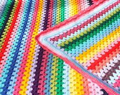 Beautiful granny stripe crochet afghan!  I'm so inspired.