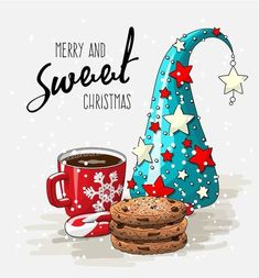 merry and sweet xmas-Tatyana Ivanova Christmas Mood, Noel Christmas, Christmas Clipart, Christmas Printables, Christmas Wishes, Christmas Pictures, Christmas Greetings, Vintage Christmas, Christmas Crafts