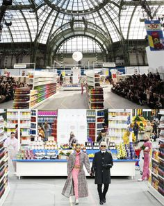 Karl Lagerfeld and his team turned the Grand Palais into an enormous, lavishly stocked Chanel hypermarket