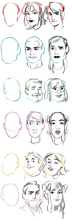 Fashion Illustration Tutorial Face Character Design 16 New Ideas Drawing Techniques, Drawing Tips, Drawing Sketches, Art Drawings, Sketching, Drawing Expressions, Poses References, Digital Art Tutorial, Drawing Reference Poses