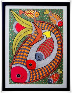 madhubani paintings blue green - Google Search Gond Painting, Mural Painting, Mural Art, Fabric Painting, Madhubani Paintings Peacock, Madhubani Art, Indian Paintings, Traditional Paintings, Traditional Art