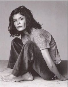 You remind me a bit of Audrey Tautou and after doing some research, there's some definite similarities. When you mentioned being barefoot, this image came to mind. Audrey Tautou, Amelie, Pretty People, Beautiful People, Thin Hair Cuts, French Actress, Poses, Mode Inspiration, Girl Crushes