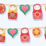 Russian doll party printables by Happythought! http://printablepaperproducts.com/