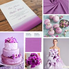 2014 Pantone Color of the Year: Radiant Orchid Wedding Inspiration