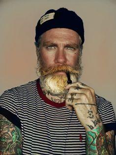 Tattoos. Eyes. Beard. <3