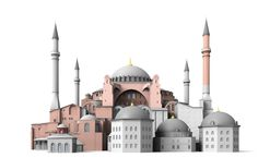 Painting - Hagia Sophia, Istanbul by Esoterica Art Agency , Mosque Architecture, Historical Architecture, Hagia Sophia Istanbul, Watercolor Architecture, Buch Design, Islamic Patterns, Cathedral Church, Cultural, Free Pictures