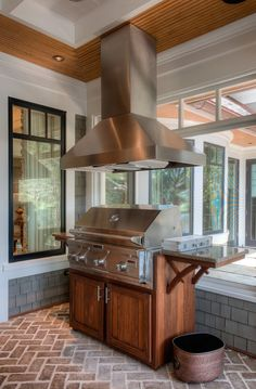 with exhaust | outdoor kitchen