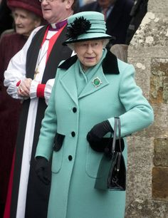 Queen Elizabeth II Photos Photos - HM Queen Elizabeth II and The Duke of Edinburgh seen braving the freezing temperatures and snow while attending a church service in Castle Rising, Norfolk. - The Queen Goes to Church