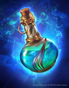 Potions arts made for Mighty Heroes card game © 2018 Boombit Games Dungeons And Dragons Homebrew, D&d Dungeons And Dragons, Anime Weapons, Fantasy Weapons, Character Inspiration, Character Design, Magic Bottles, Dragon Rpg, Game Props