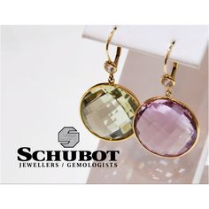 green and pink Amethyst earrings
