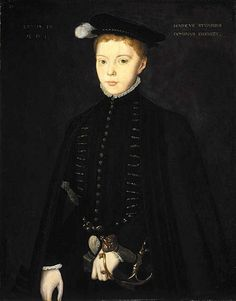 Henry Stuart, Lord Darnley, Consort of Mary, Queen of Scots (aged 10) Hans Eworth (c. 1520 – 1573, Belgian)