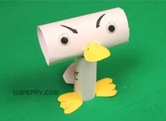 Preschool Crafts for Kids*: Funny Easter Duck Paper Roll Craft
