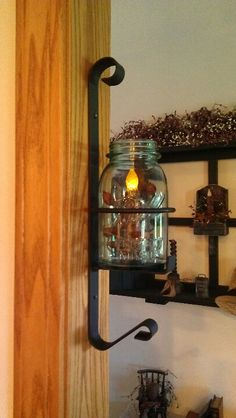 Old Ball Jar with Candle