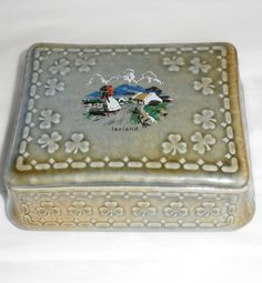 1960's Wade Irish Porcelain Trinket Box/Irish by BYGONERA on Etsy