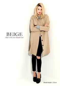 NOWiSTYLE(ナウアイスタイル) Beige Coat, New Model, Duster Coat, Jackets, Fashion, Beige Trench Coat, Down Jackets, Moda, Fashion Styles